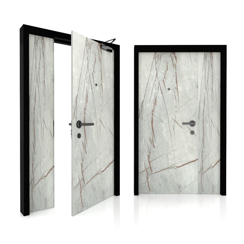 Main door_Double leaf_Green Label Core 8_Marble BJ5