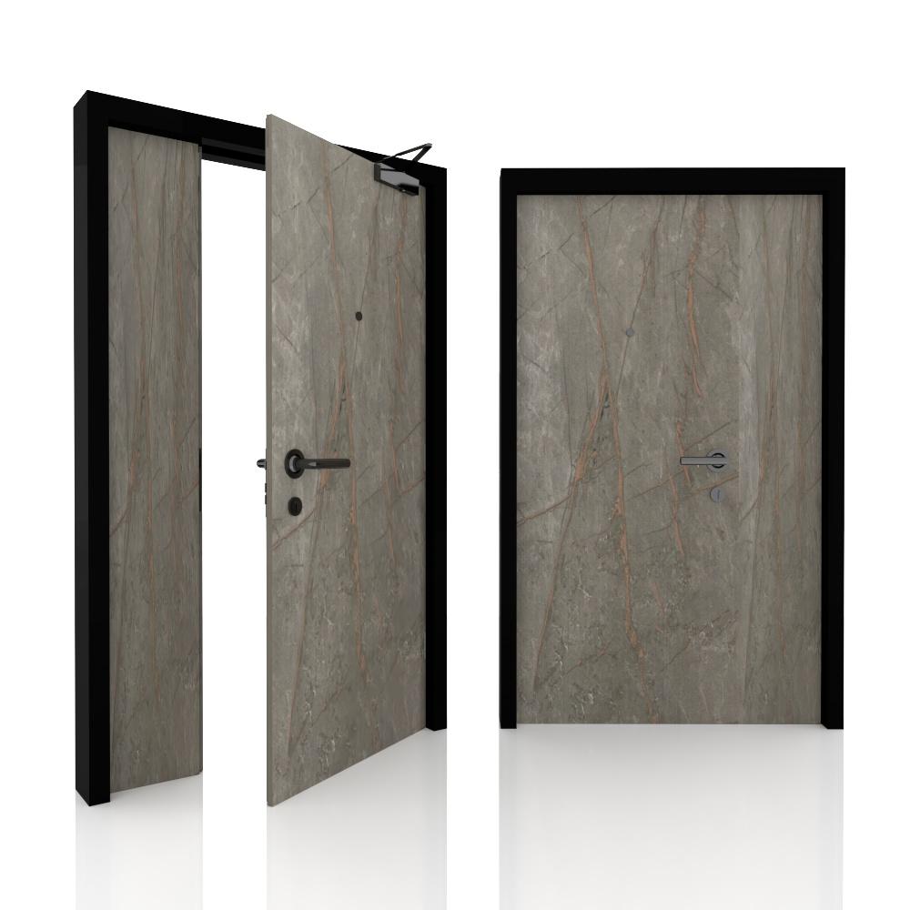 Main door_Double leaf_Green Label Core 8_Marble BJ6